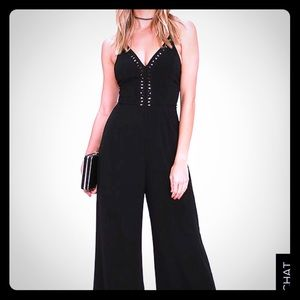 Pitaya Lush Black Jumpsuit Size Medium